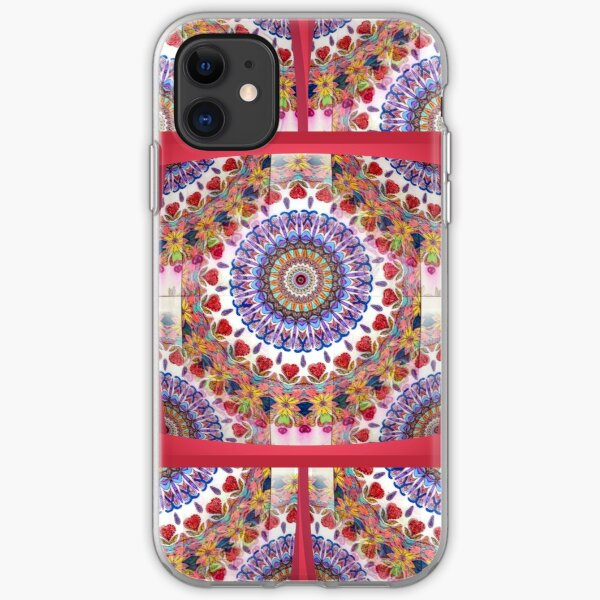 Style Old Colored Lace Fall Into Winter Design at Green Bee Mee iPhone Soft Case