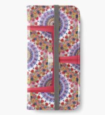 Style Old Colored Lace Fall Into Winter Design at Green Bee Mee iPhone Wallet/Case/Skin
