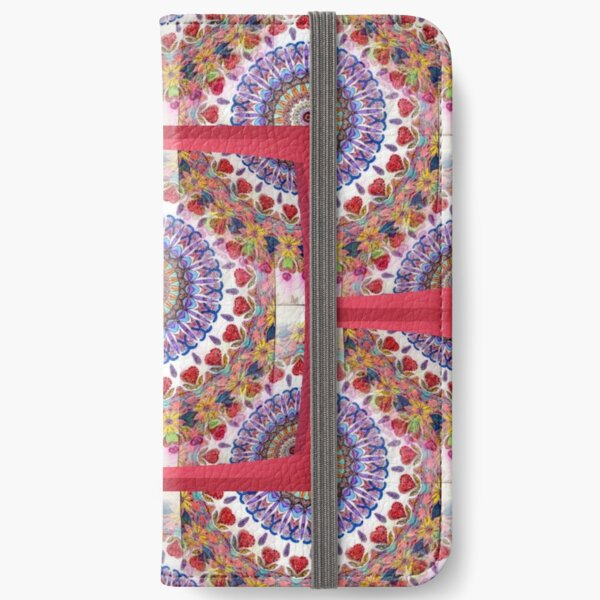 Style Old Colored Lace Fall Into Winter Design at Green Bee Mee iPhone Wallet