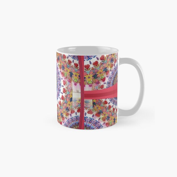 Style Old Colored Lace Fall Into Winter Design at Green Bee Mee Classic Mug
