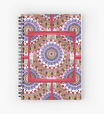 Style Old Colored Lace Fall Into Winter Design at Green Bee Mee Spiral Notebook
