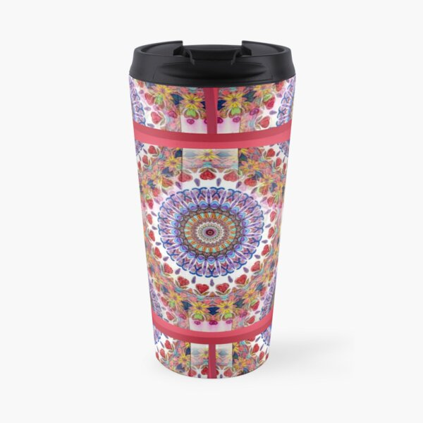 Style Old Colored Lace Fall Into Winter Design at Green Bee Mee Travel Mug