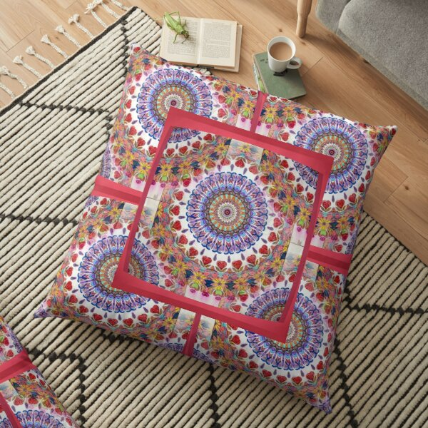Style Old Colored Lace Fall Into Winter Design at Green Bee Mee Floor Pillow