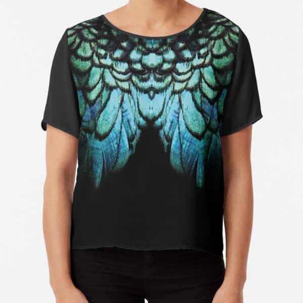 feathery necklace Chiffon Top