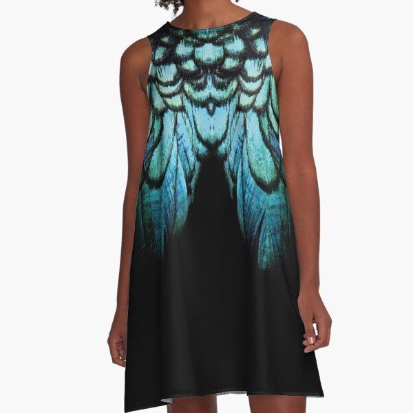 feathery necklace A-Line Dress