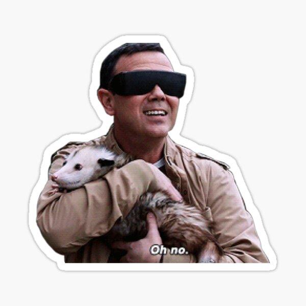charles boyle holding a possum Sticker