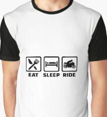 eat sleep ride Graphic T-Shirt