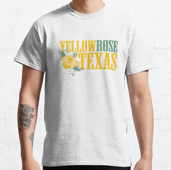 Yellow Rose of Texas - Western Single Rose Classic T-Shirt