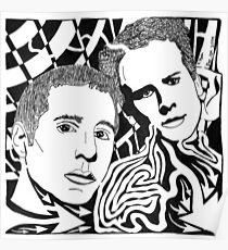 Simon And Garfunkel Maze Poster