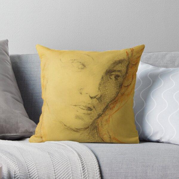 DRAWING REINAISSANCE ITALIAN ART OLD MASTER Throw Pillow