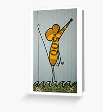 Montell is harried by uncertainties. Greeting Card