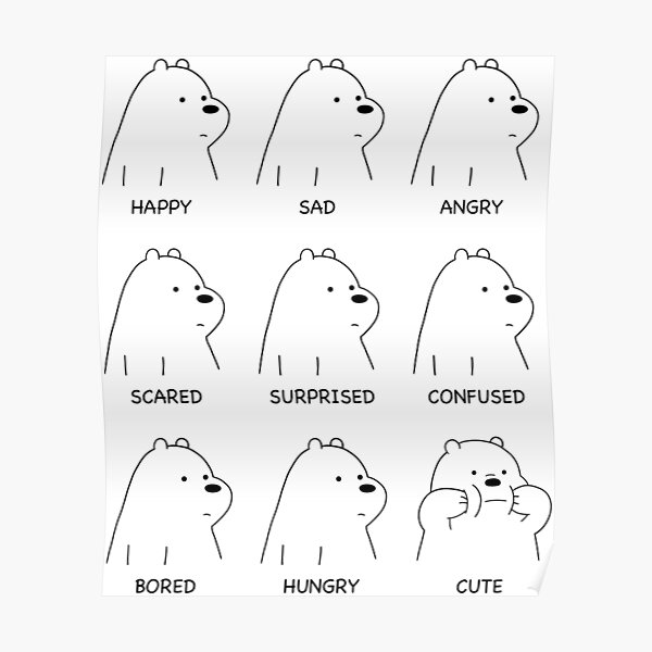 Ice Bear Moods Poster