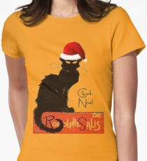 Le Chat Noel Womens Fitted T-Shirt