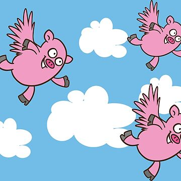Flying Pigs by Vectorqueen