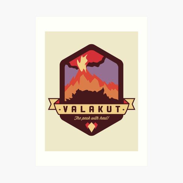 Valakut - The peak with heat! Art Print