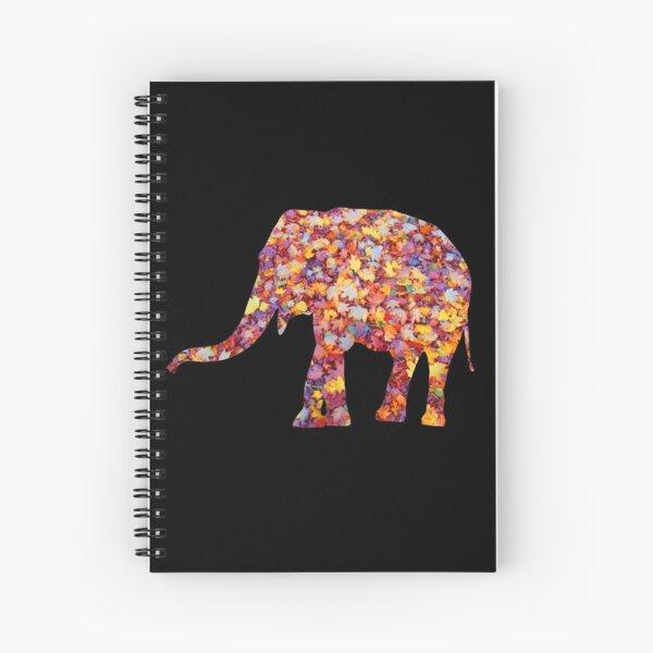 wundervoller Elefant im Herbst - Gewand, Afrika Spiralblock