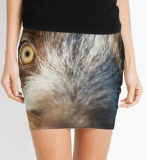 Brown Roan Italian Spinone Puppy Dog Head Shot Mini Skirt