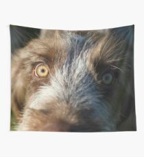 Brown Roan Italian Spinone Puppy Dog Head Shot Wall Tapestry
