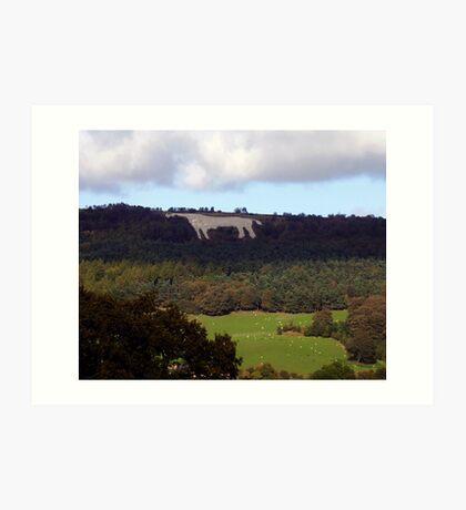 White Horse of Kilburn, North Yorkshire Art Print