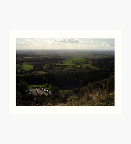View from the White Horse of Kilburn, North Yorkshire Art Print