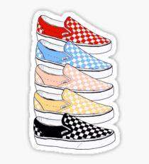 Checkerboard Vans Sticker