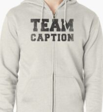 Team Caption Zipped Hoodie