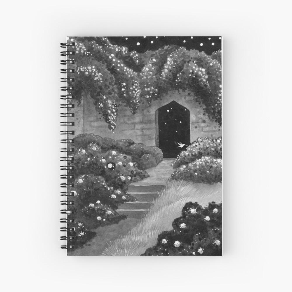 Midnight Garden Spiral Notebook