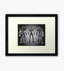ROBOT CHARACTERS Framed Print