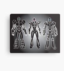 ROBOT CHARACTERS Metal Print