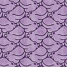 « Têtes en l'air les hippos - violet » par Hippopottermiss