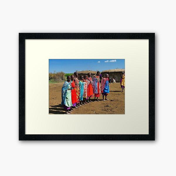 Colorful Masai Women Framed Art Print