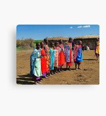 Colorful Masai Women Canvas Print