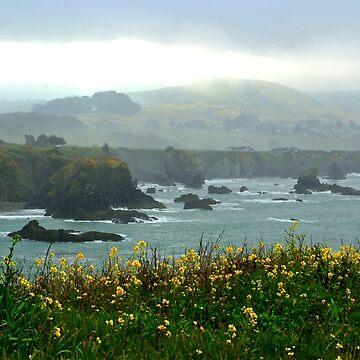 Cliffs in the Mist by lenzart
