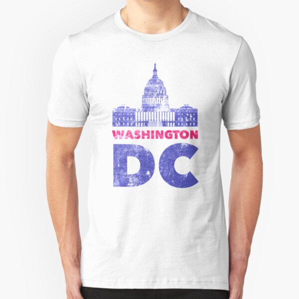 Vintage Washington DC T-Shirt DMV Capitol Tee Souvenir Gifts Slim Fit T-Shirt