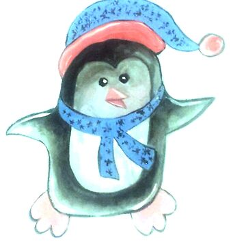 Christmas Penguin01 by cbfineartstudio