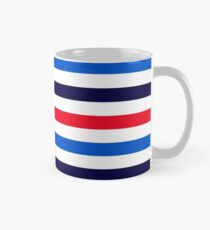 Blue, red and white stripes Classic Mug