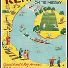 Vintage Renmark Australia Retro Travel Advertisement Art Posters by jnniepce