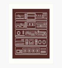 Stereo Components Art Print