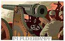 WWI German Artillery Gun Crew firing Cannon by edsimoneit