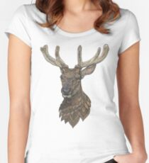 Reindeer Fitted Scoop T-Shirt
