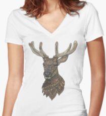 Reindeer Fitted V-Neck T-Shirt
