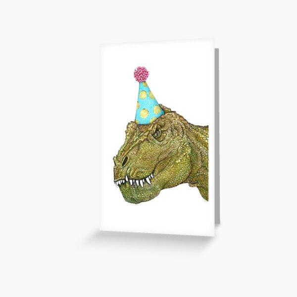 Party Dinosaur Greeting Card