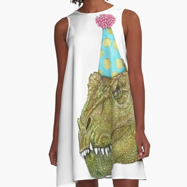 Party Dinosaur A-Line Dress