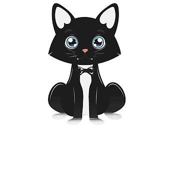 Tuxedo Meow Cat Love Kitten Funny Cute Gift by UltimateTWorld