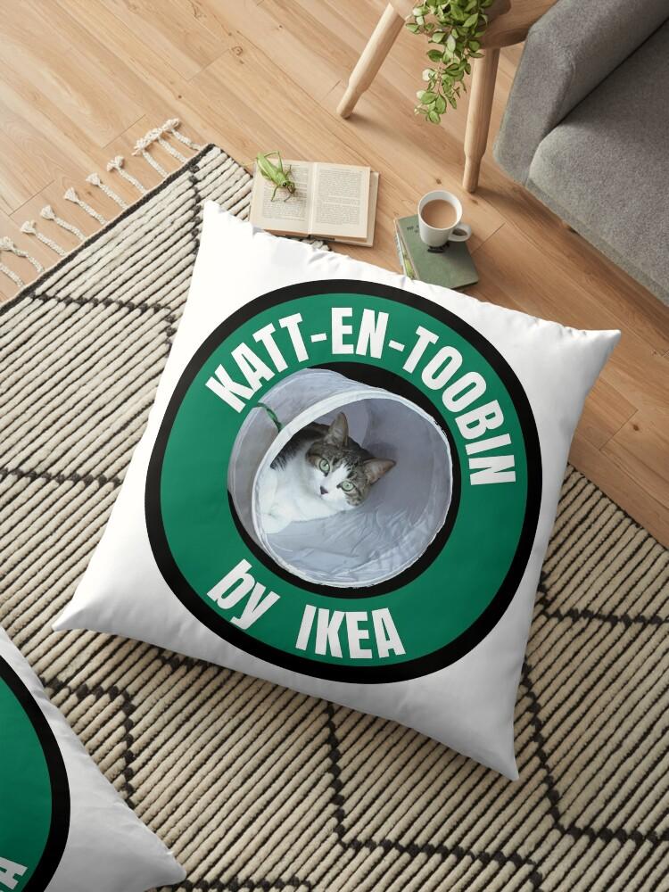 Coussin De Sol Katt En Toobin Par Ikea Par Cartoon Redbubble