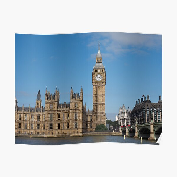 Houses of Parliament in London Poster