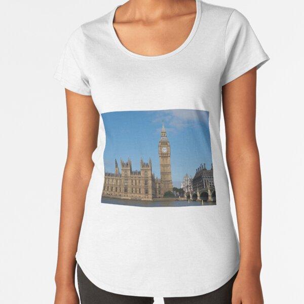 Houses of Parliament in London Premium Scoop T-Shirt
