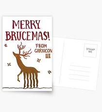 Merry Brucemas from Garxicon III! Postcards