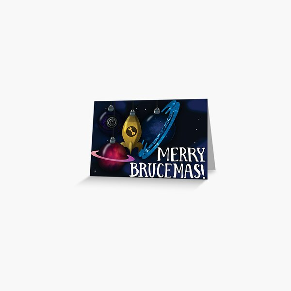 Merry Brucemas Card Greeting Card