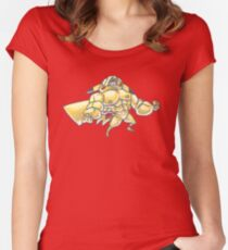 Strong pikachu Women's Fitted Scoop T-Shirt